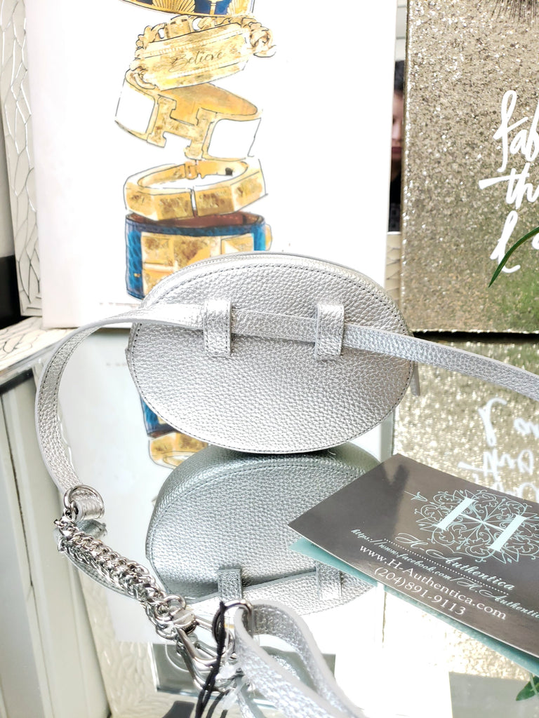 Lacoste Silver Fanny Pack