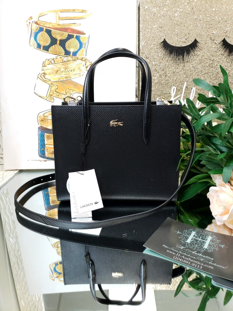 Lacoste Black Shopper Bag