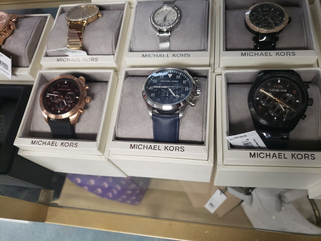 michael kors blue mens watch