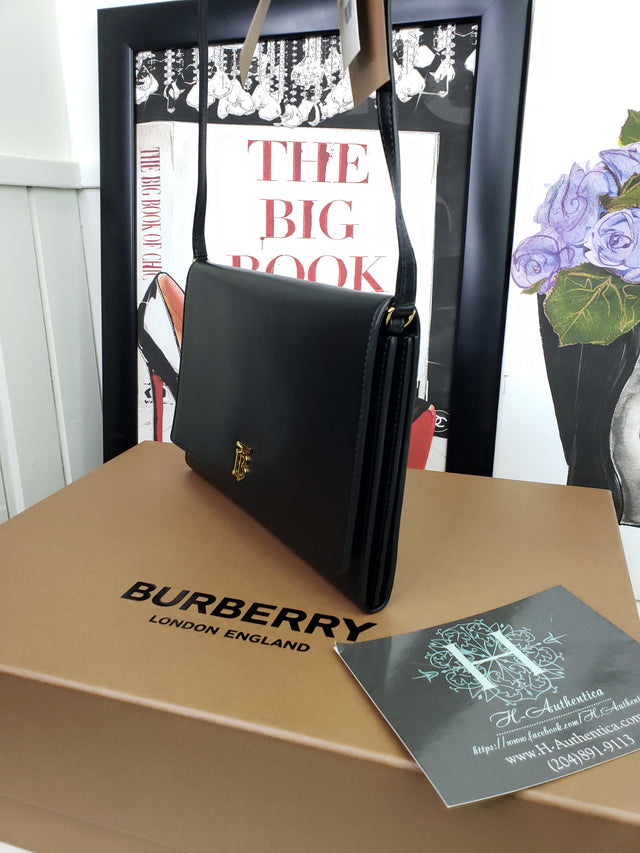 Monogram Motif Leather Wallet with Detachable Strap BURBERRY
