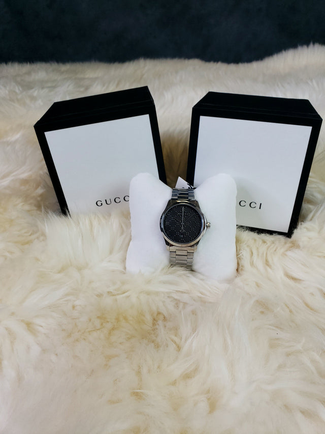 Gucci mens watch silver