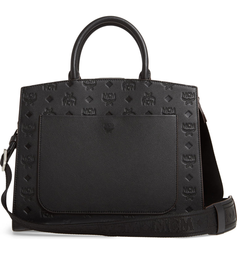 Essential Monogrammed Leather Satchel MCM