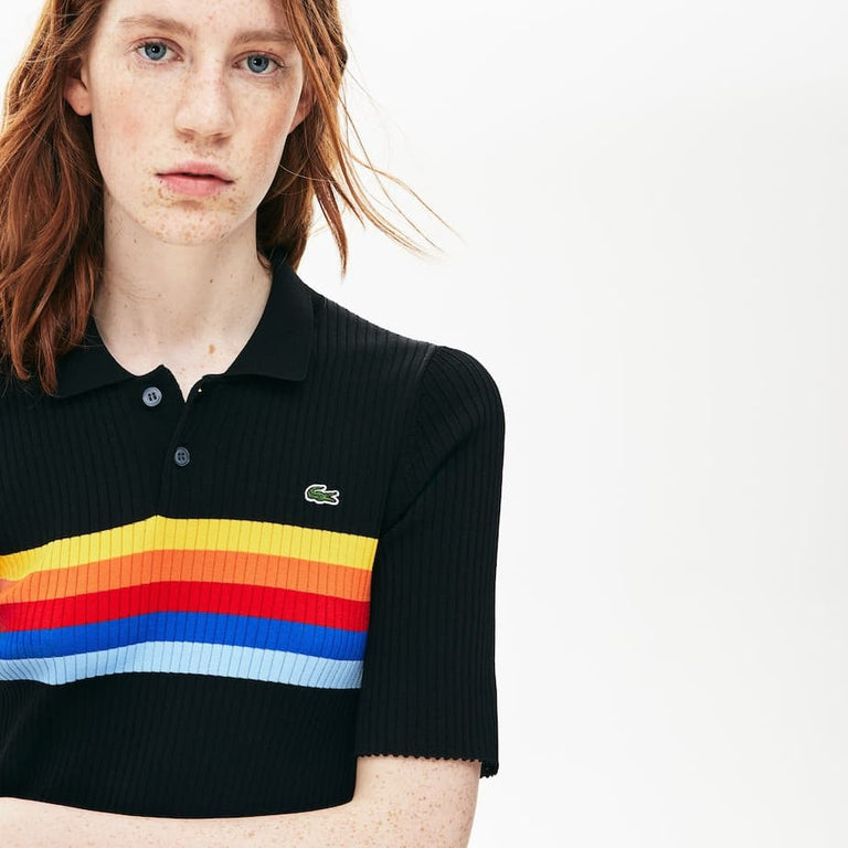 Lacoste LIVE Mid-Length Ribbed Polo Dress