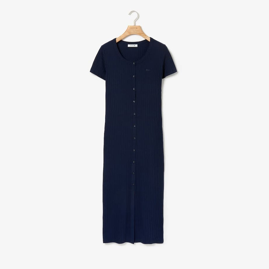 Lacoste Long Ribbed Dress