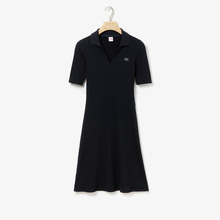 Lacoste Cotton Blend Polo Dress