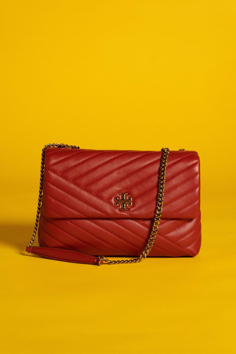 Tory Burch Chevron Leather Crossbody Bag
