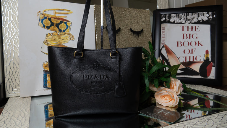 Prada Black Leather Tote