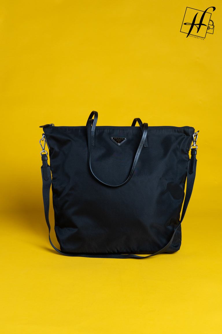 Prada Nylon and Saffiano leather tote