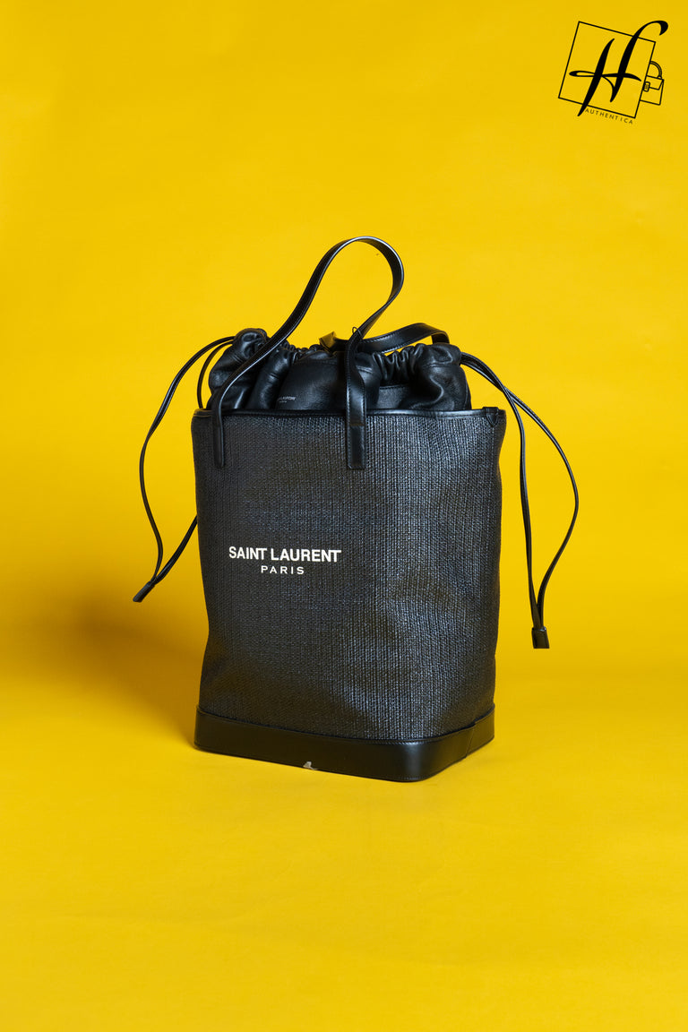 YSL Shopping bag in Rafflia