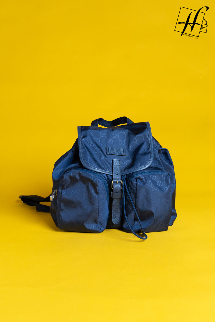 Gucci Nylon GG tide Rainy backpack