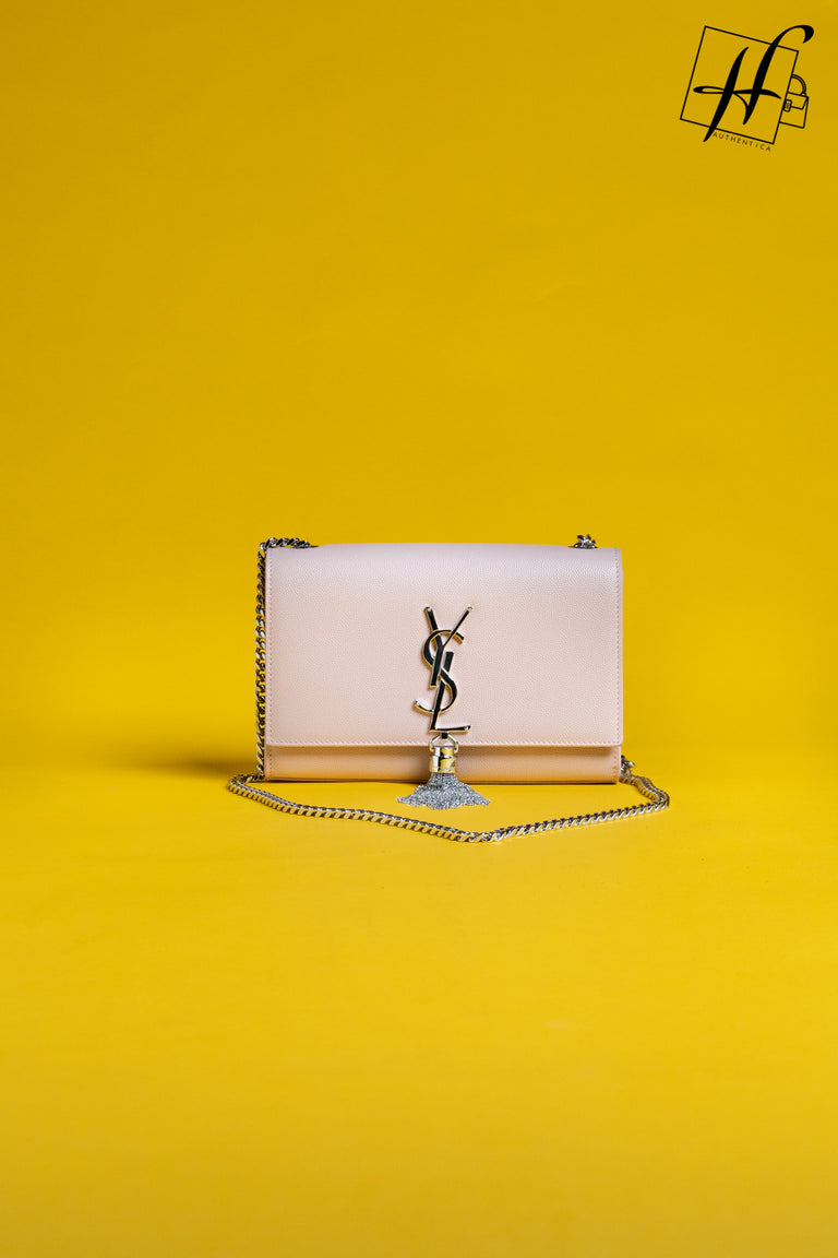 YSL KATE SMALL BAG WITH TASSEL IN GRAIN DE POUDRE EMBOSSED LEATHER