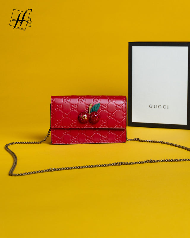 Gucci GG Signatures cherries mini bag