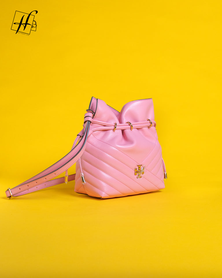 Tory Burch Quilted mini bucket bag