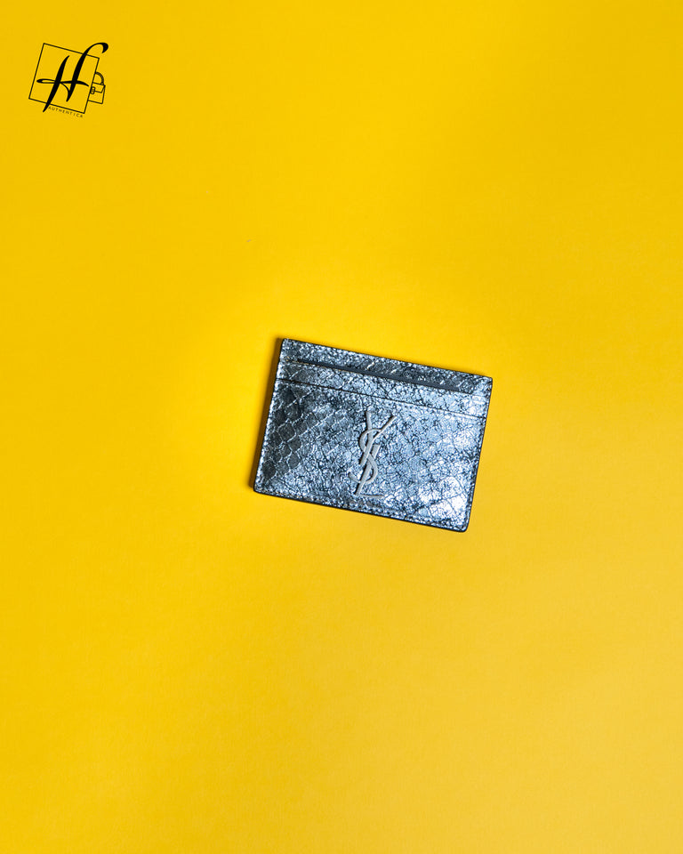 YSL Metallic Card holder