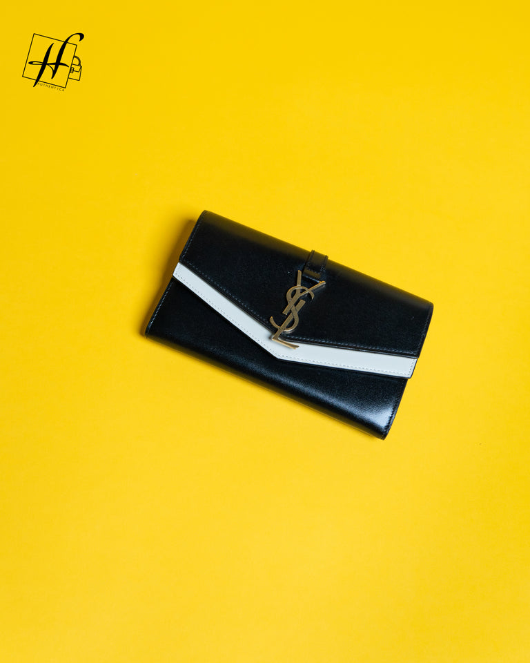 YSL Large Double Flap wallet