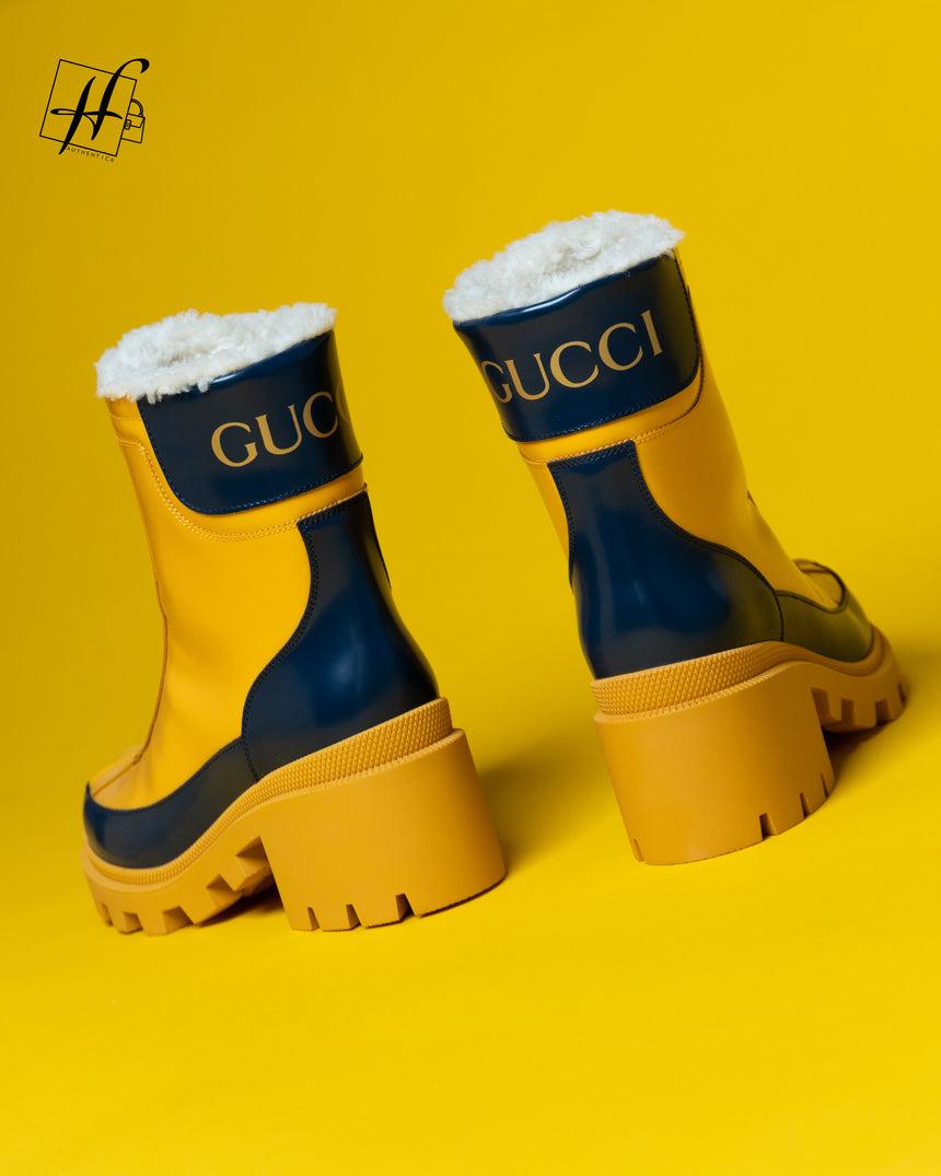 Gucci Leather mid-heel ankle boots