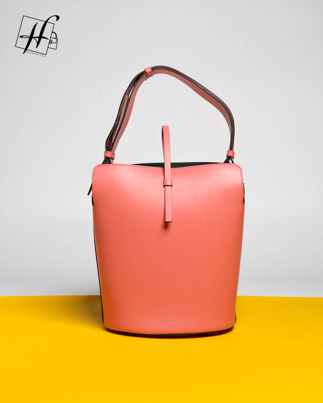 Burberry Coral Bucket Bag
