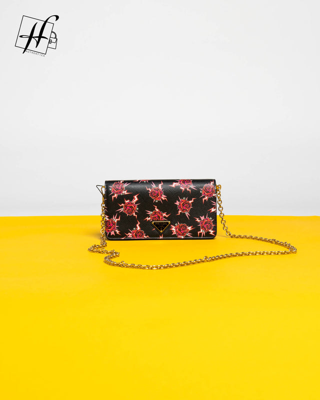 Prada Mini Rose Bandoliera