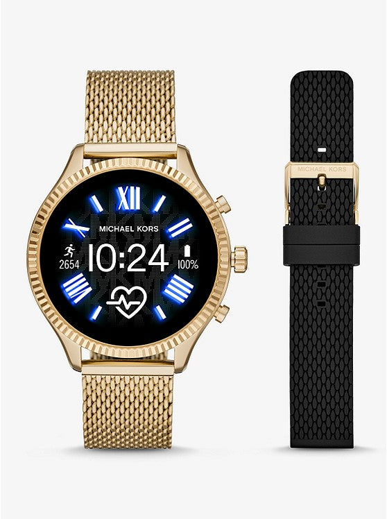 Gen 5 Lexington Gold-Tone Smartwatch Gift Set