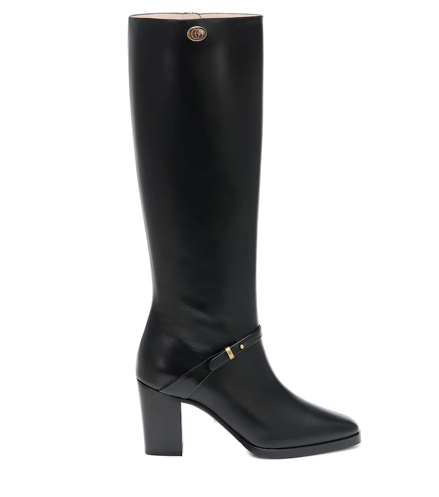WOMEN'S SHOES:Gucci leather boot with double G