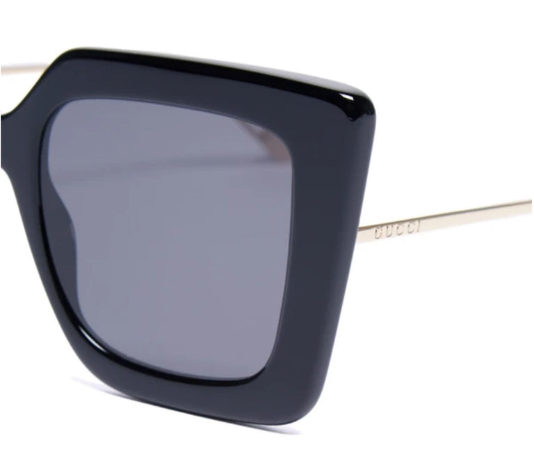 Gucci Square-Frame Acetate and Metal Sunglasses