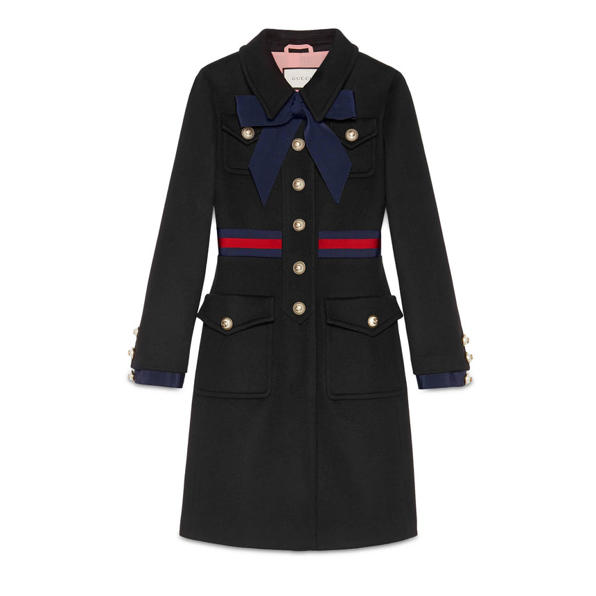 Gucci Wool coat with Web