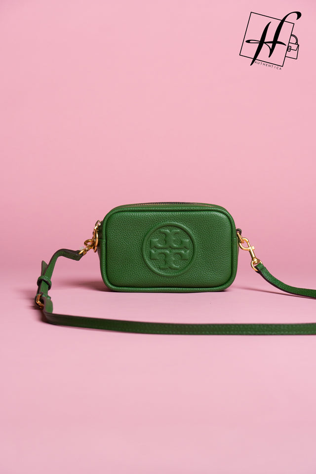 Perry Bombe Leather Crossbody Bag TORY BURCH