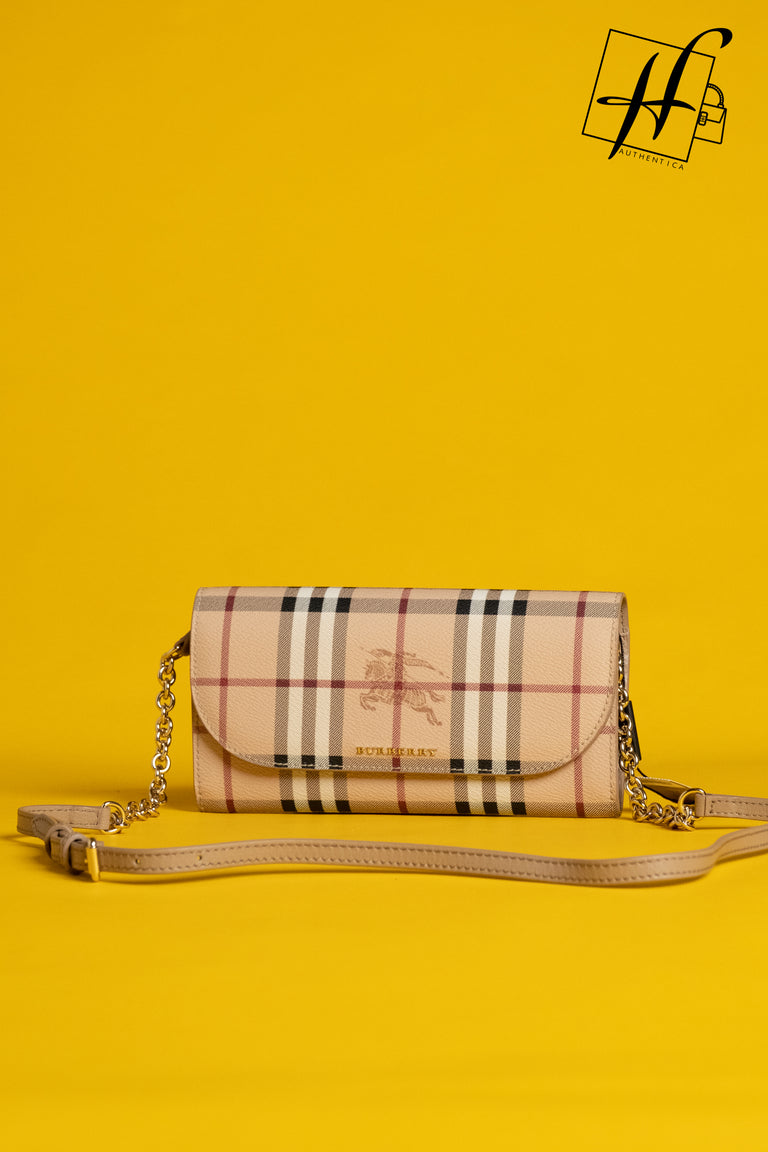 Haymarket Wallet on a Chain BURBERRY