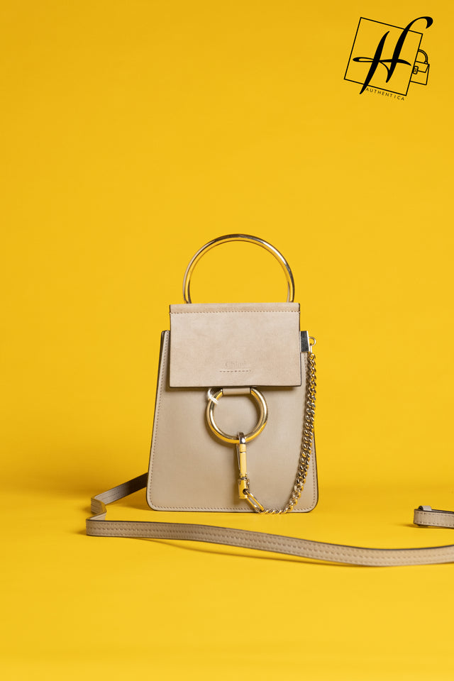 Chloe Faye Small Suede & Leather Bracelet Bag
