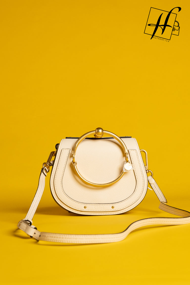Chloé Small Nile Bracelet Leather Crossbody Bag - beige