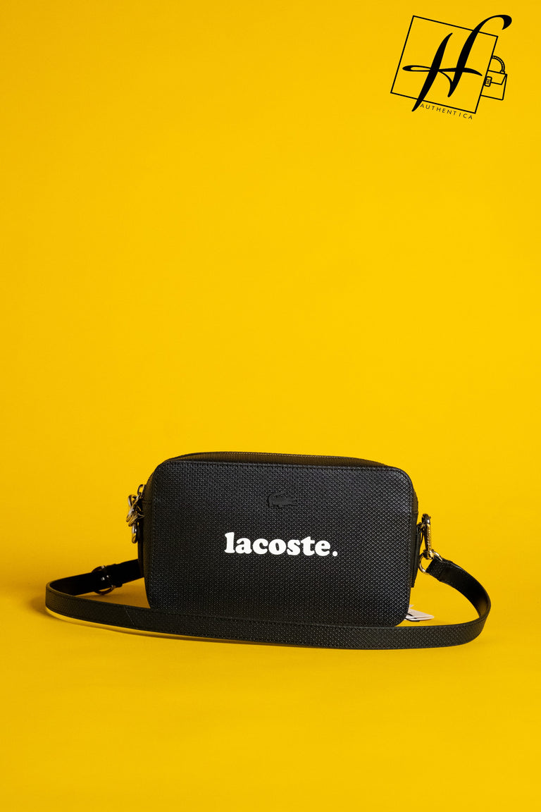 Lacoste leather crossover bag