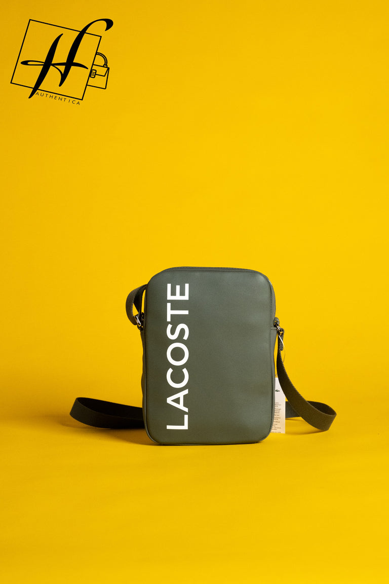 Lacoste Signature leather bag