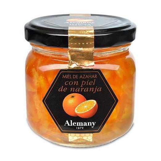 ALEMANY ORANGE BLOSSOM HONEY WITH ORANGE PEEL 8.8oz-monsieur marcel gourmet market