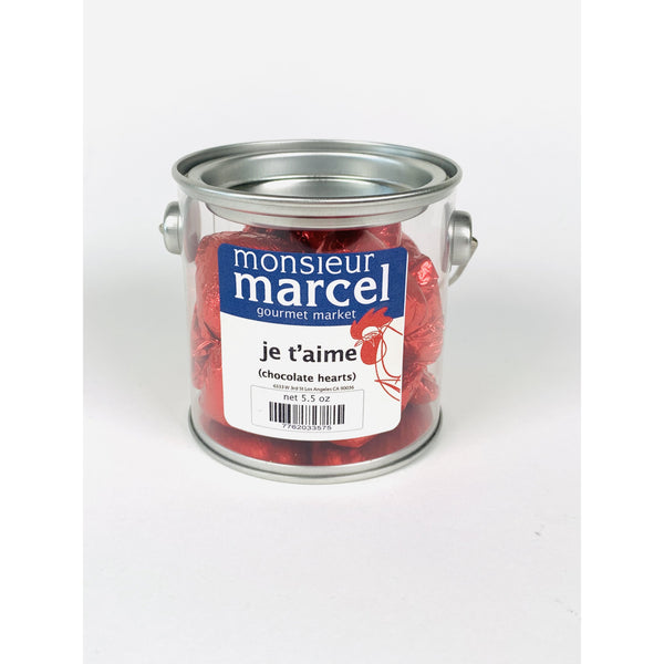 MONSIEUR MARCEL CHOCOLATE HEARTS 5.5oz-monsieur marcel gourmet market