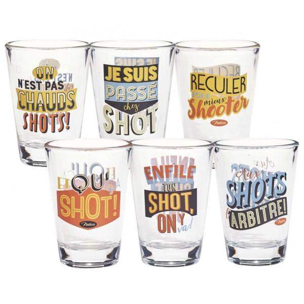 NATIVES SET OF 6 SHOT GLASSES-monsieur marcel gourmet market