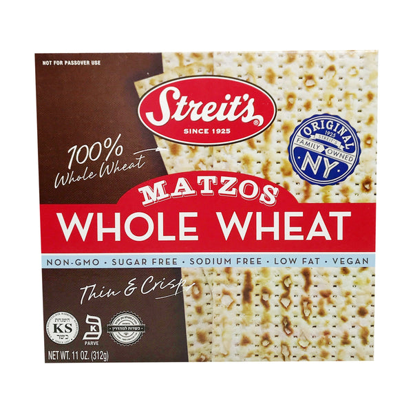 STREITS WHOLE WHEAT MATZOS 11oz-monsieur marcel gourmet market