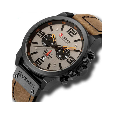 Man on Duty Light Brown Watch