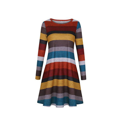 Soft Color Stripes Dress