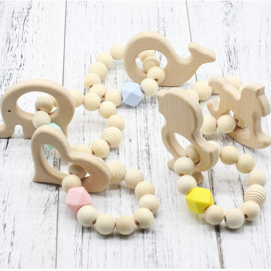 BPA Free Baby Wood Teether