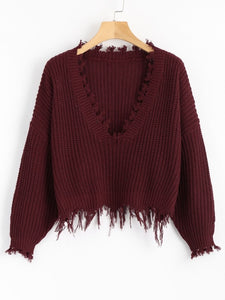 Winter Ripped Sweater