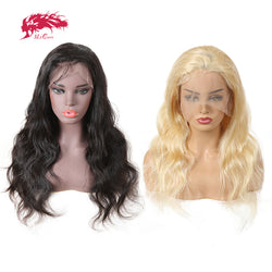 Ali Queen Brazilian Natural Black or Blonde Virgin Lace Front Human Hair Wigs