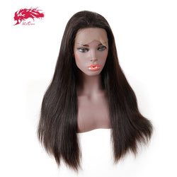 Ali Queen 180% Density Remy Brazilian Straight Human Hair Lace Front Wig