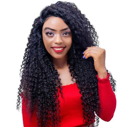 RUIYU Brazilian Remy Kinky Curly Frontal Wig With Baby Hair For Black Women
