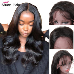 Brazilian Remy Pre Plucked Front Human Hair Wigs For Women