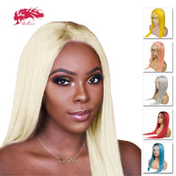 Ali Queen Brazilian Remy Straight Hair Color Lace Front Human Hair Wigs Pre Plucked With Baby Hair 14