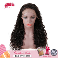 Natural Wave 13x4 Lace Front Wigs With Baby Hair Pre Plucked Natural Hairline ALi Queen Hair Remy Human Hair Wigs For Women
