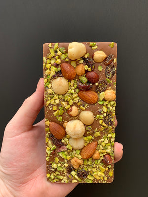 MILK CHOC FRUIT N NUT BLOCK