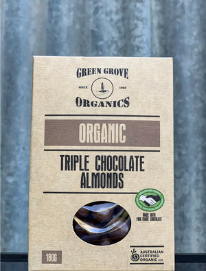 TRIPLE CHOCOLATE ALMONDS