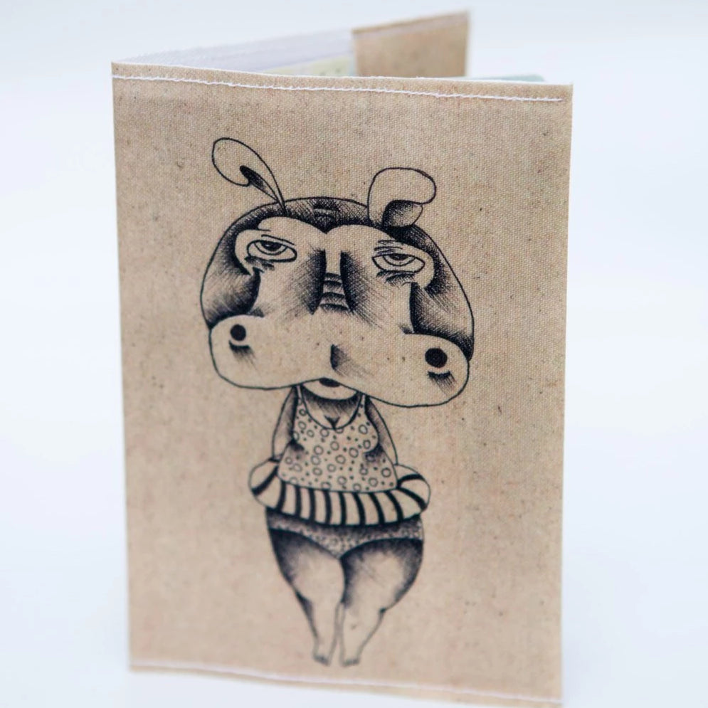 "Passport Cover ""Hippo On Vacation"""