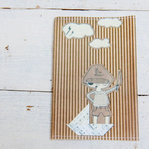 "Fabric passport cover ""Pirate Boy"""